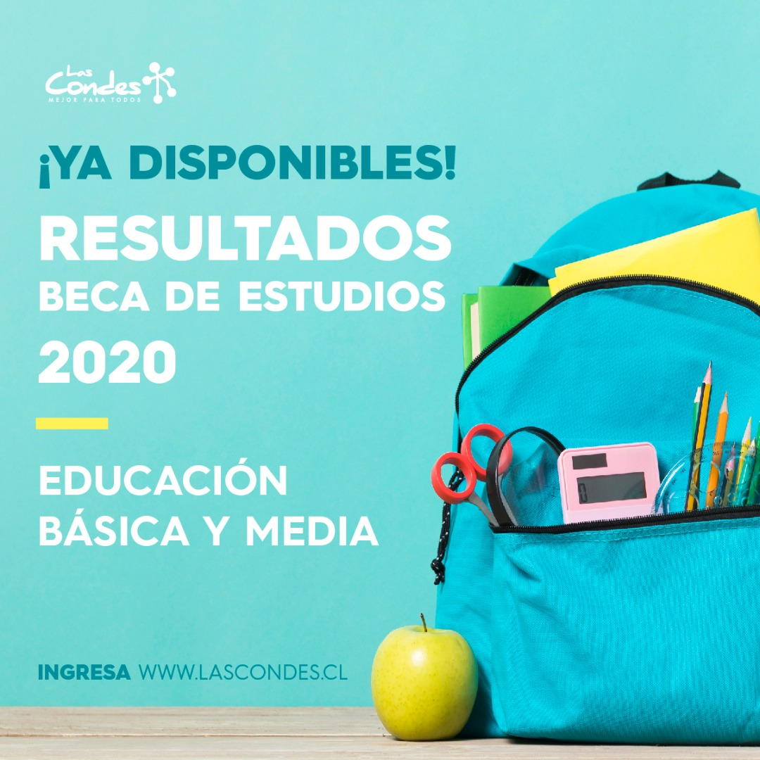 Resultados Beca de Estudios 2020, educación básica y media