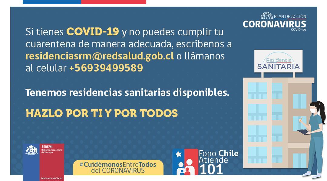 Residencias sanitarias para contagiados por covid-19.