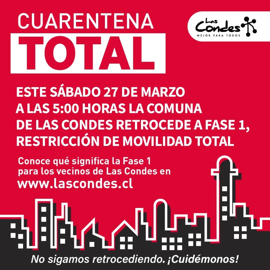 Cuarentena total en Región Metropolitana