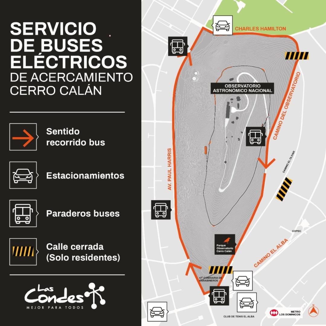Circuito especial de buses eléctricos.